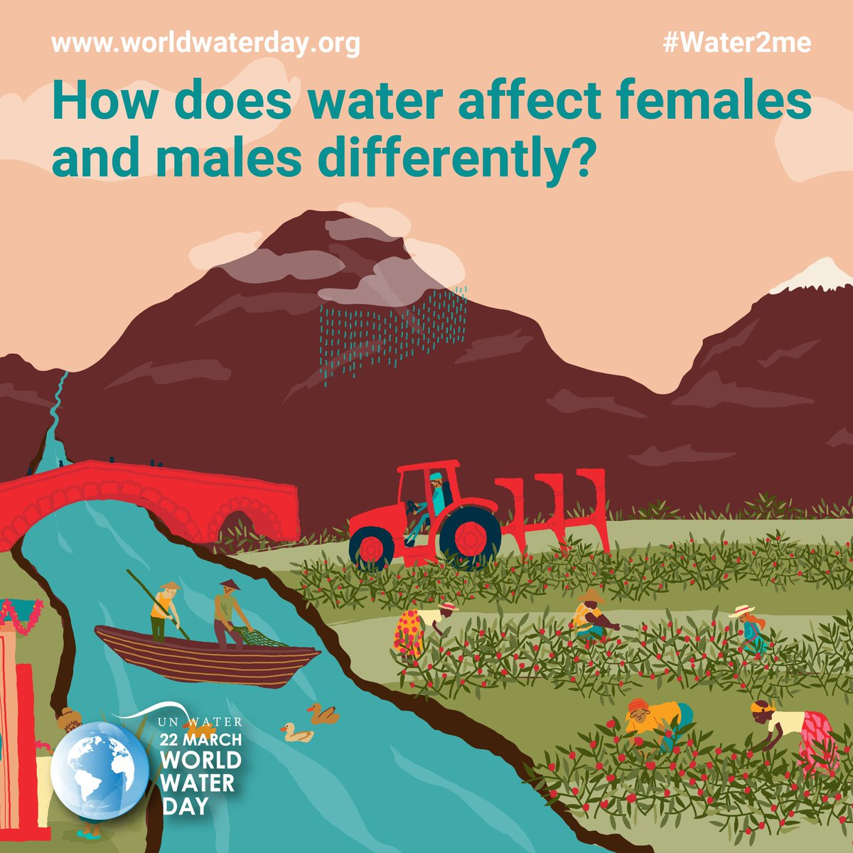 Water means different things to different people. How does #water affect females & males differently?  Join the conversation and help shape the 2021 #WorldWaterDay campaign!  #Water2Me #WWD #GenderEquality