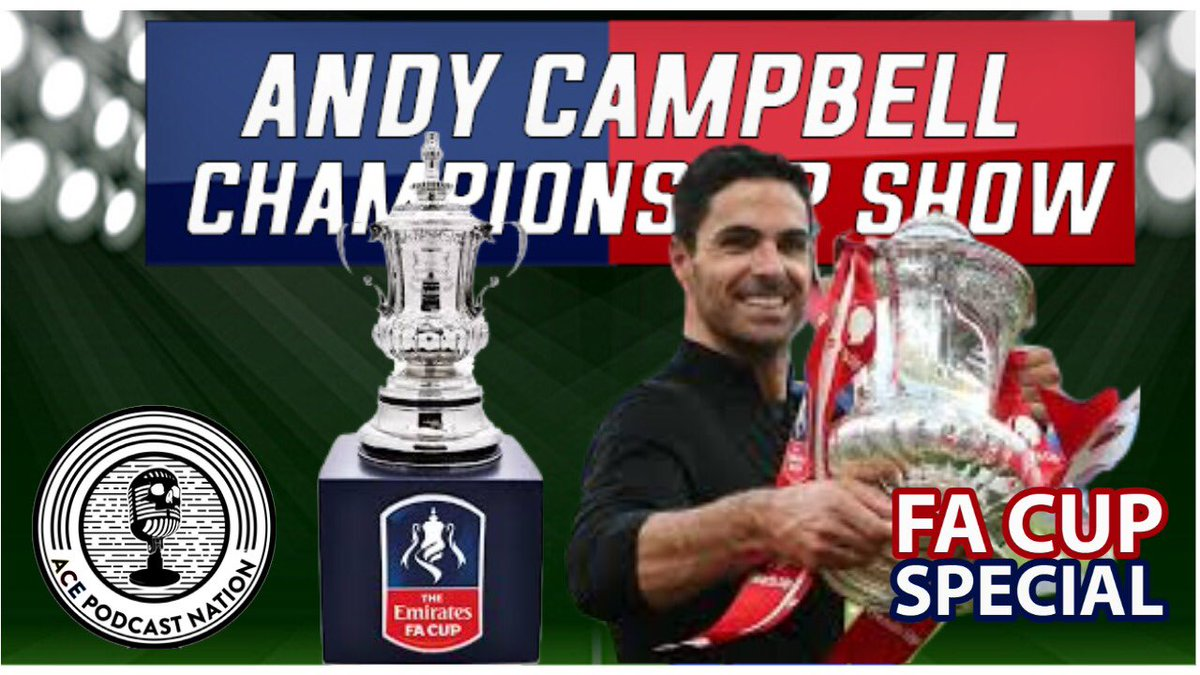 ‼️ TONIGHT 7pm ‼️  ⚽️ FA Cup Special   🗣 @andycampbell32 & @ACEcast_Nation will be talking everything FA Cup. Results, performances (Good & Bad), goals, upsets and the draw.   LIVE 📱🎙👉