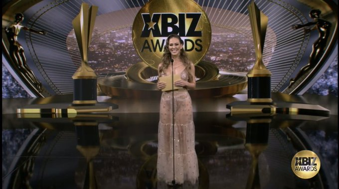 I'm so honored to have won both @XBIZ MILF performer of the year and best trans sex scene with the stunning