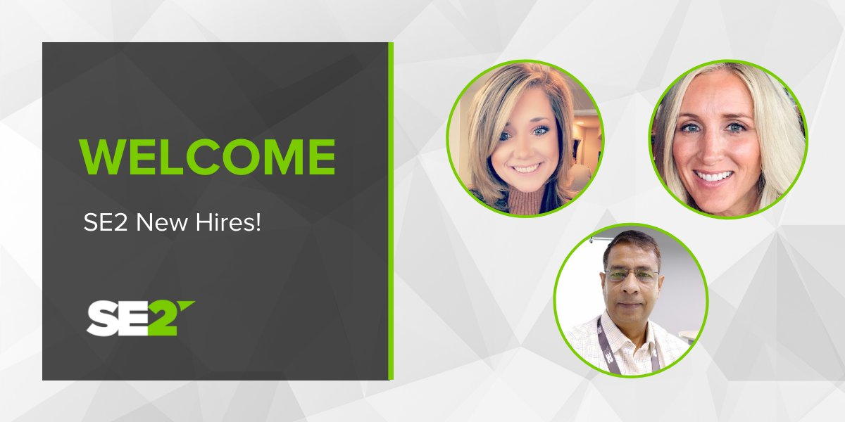 Welcome aboard to our new @SE2LLC team members! We're so excited to have you on the team. #SE2 #Hiring #Recruiting https://t.co/Ia7UkEiY0b