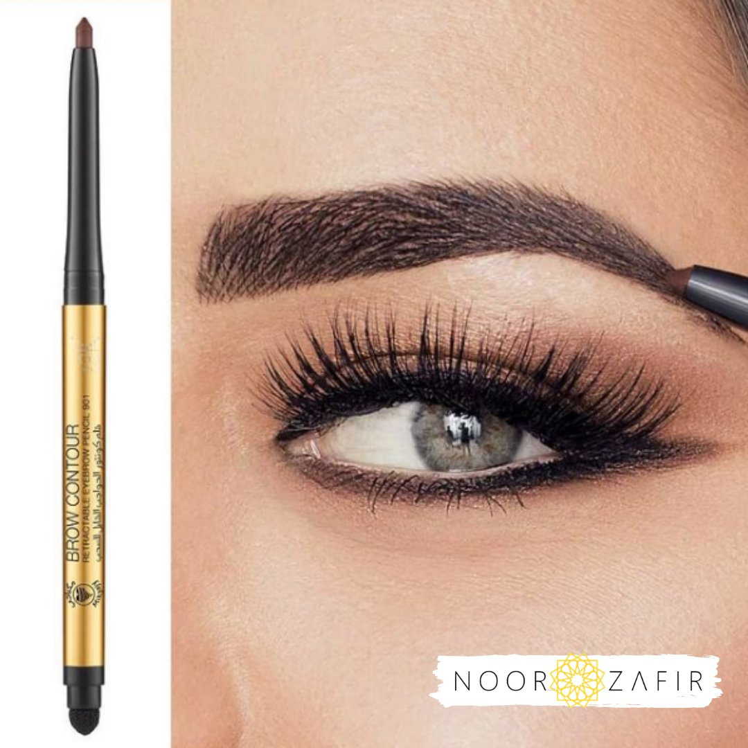 Good brow vibes ONLY! This Eyebrow Pencil from Mikyajy matches brow hair to perfectly fill in sparse areas of the brow and shape them.    #NoorandZafir #Marketplace #worldwideshipping #makeup #makeupartist #makeuptutorial #cosmetics #bhfyp #eyebrow #beauty