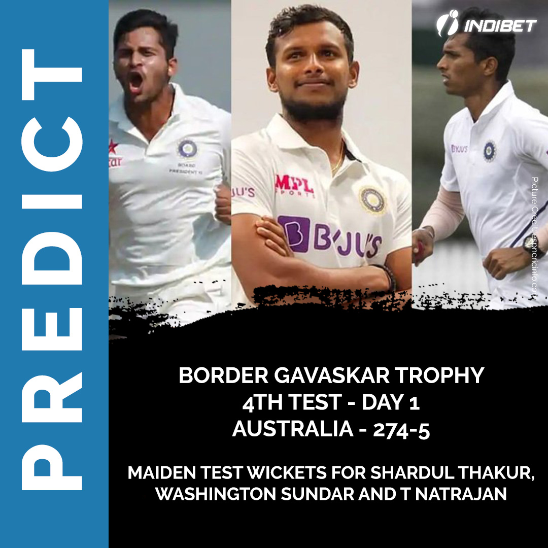 A special achievement for our 3 debutantes! Can they add more to their tally tomorrow? #Cricket #TeamIndia #IndvsAus #Indibet #Contest #Bet #Predict #bets #betting #Bettor #bookie #bookmaker