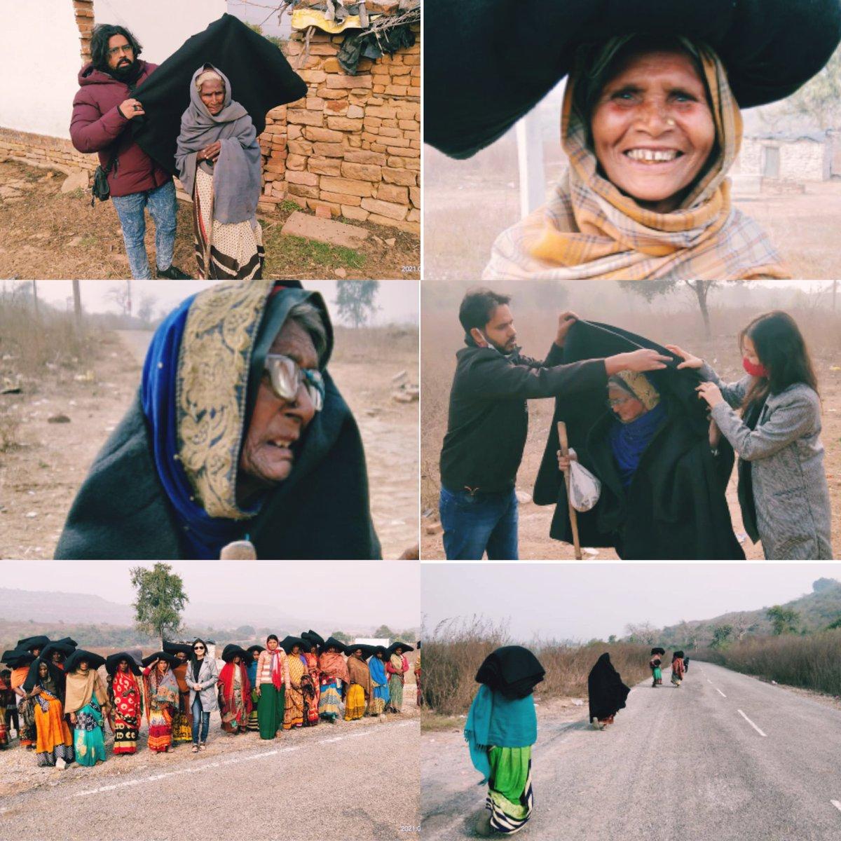 @SonuSood सर को कोटि-कोटि नमन 🙏  आज मिर्जापुर में विन्धपर्वत पर बुजुर्ग दादियों और बनवासी लोग को इस कड़कड़ाती ठंड में कम्बल वितरित किया गया इसके साथ साथ 17 को सुकृत (सोनभद्र )और 19 को वाराणसी (रोहनिया) में वितरण किया जाएगा। मिर्जापुर वासियों  के तरफ से दिल से आभार सोनू सूद भैया.