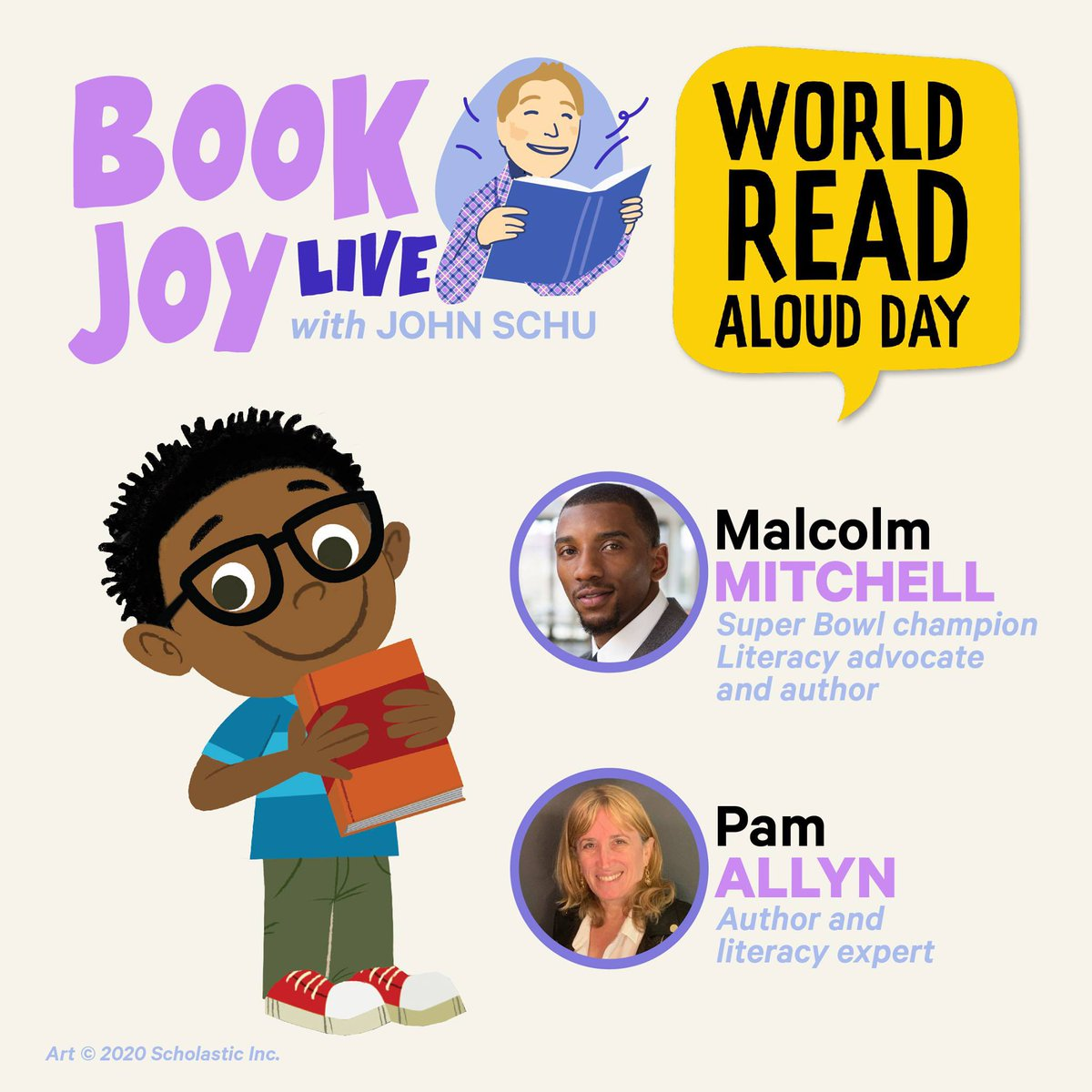 . @pamallyn and @MalcolmJarod discussed World Read Aloud Day during yesterday's episode of Book Joy Live: