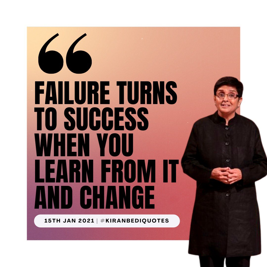 Daily Inspiration from Our Mentor, Dr. @thekiranbedi ✨  #inspiringquotes #inspiringwomen #motivationalquotes #wordsofencouragement #wordsofwisdom #wordstoliveby