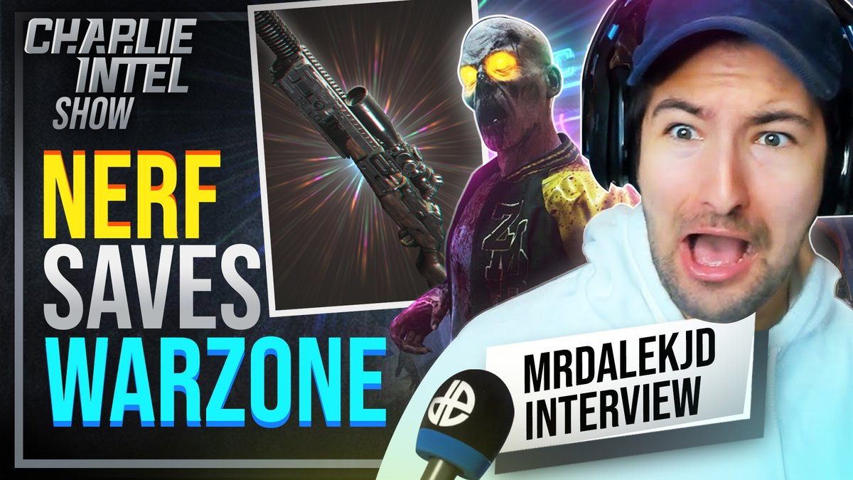 NEW CharlieIntel Show Episode is LIVE!  This week we interview @MrDalekJD who discusses all things Zombies. We also talk about the DMR's second #Warzone nerf...  🎧 Tune in now: YouTube:  Spotify:  Apple: