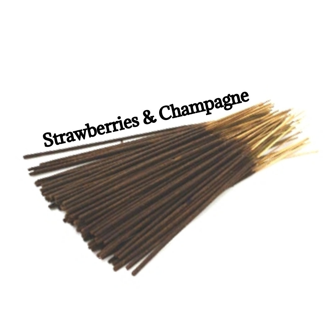Incense Sticks | Strawberries Champagne | 30 Incense Sticks | Incense Bundle  #AromatherapyOil #CyberMonday #PerfumeBodyOils #GiftShopSale #HerbalRemedies #Wedding #HomeFragranceOil #Incense #BlackFriday #Etsy #Agathasgiftshop