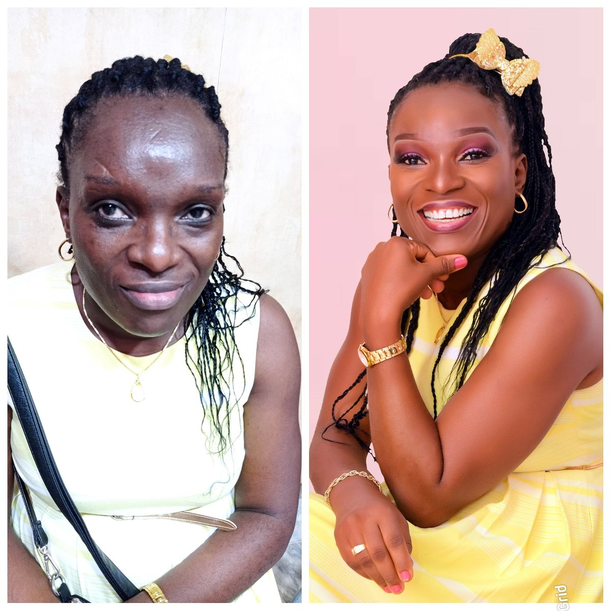 Before meets after #birthdayglam #birthdayshoot #makeupartistinibadan #ibadanmakeupartist #osogbomua #ogbomoshoweddings #mua #UCH #makeup #ibadanconnect #connectibadan #instablog