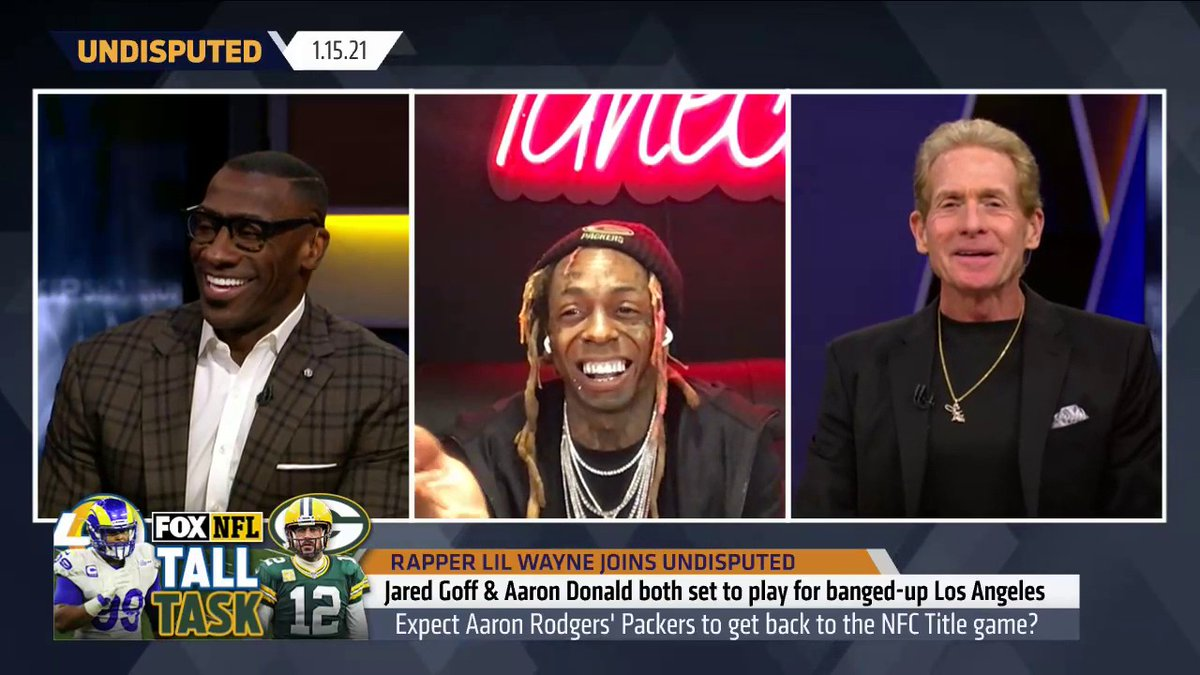 ".@LilTunechi on the theme song he made for the Packers playoff run:  ""I want them to hear it and be ready to run through a wall. Me and Coach Matt been cool. I put a lot of time into it. I worked on it for 3 days and I usually don't do that."""