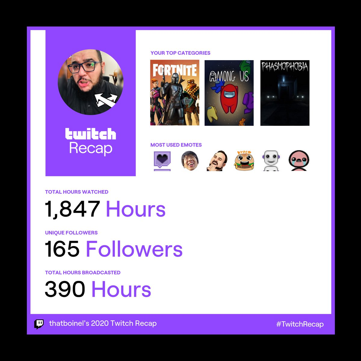 Thank you to those who support me, y'all are mad real! <3 Here's to a great year!   #Twitch #TwitchAffiliate #PathToPartner #ThatBoiNel #NellySkwaad
