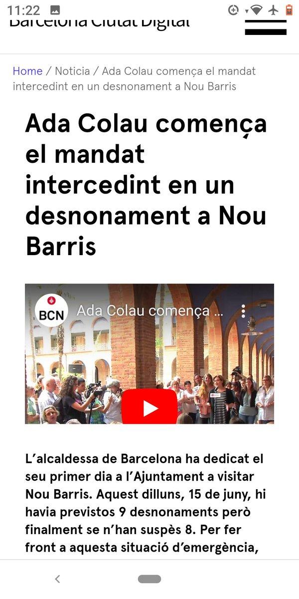 #Barcelona #ajuntament #townhall  Què, @AdaColau, ja no intercedim per evitar desnonaments?