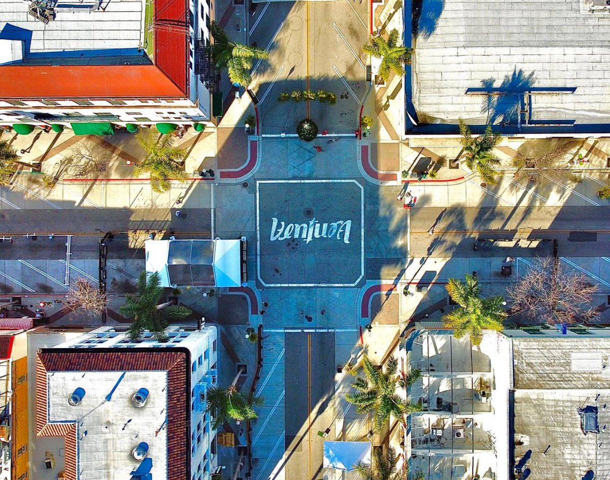 🌴 D💙WNT💙WN 🌴  There's no place like it!  Shop here:  🛍  Eat here:  🥪  the heart of Downtown Ventura photo via Drone Viking Aerial Services / @the_drone_viking 📸   #MyDowntownVentura