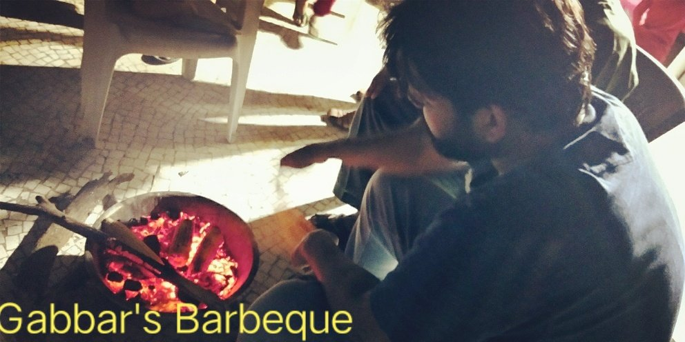 Gabbar's barbecue.... Enjoyed a beautiful evening with some corn and fire on festival evening.  #MakarSankranti2021