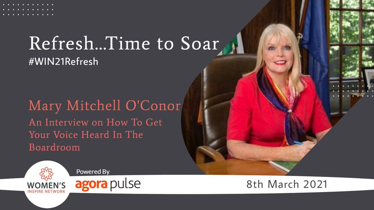 We are delighted to have @mitchelloconnor as our guest speaker at our #win21refresh event for #InternationalWomensday on March 8th! Book your ticket now and be part of the magic