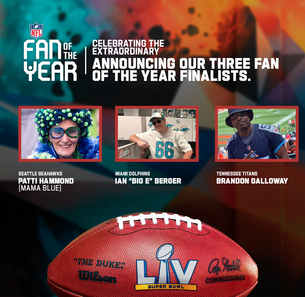 Congratulations again to our three #FanOfTheYear Finalists.  We'll see you in Tampa Bay!