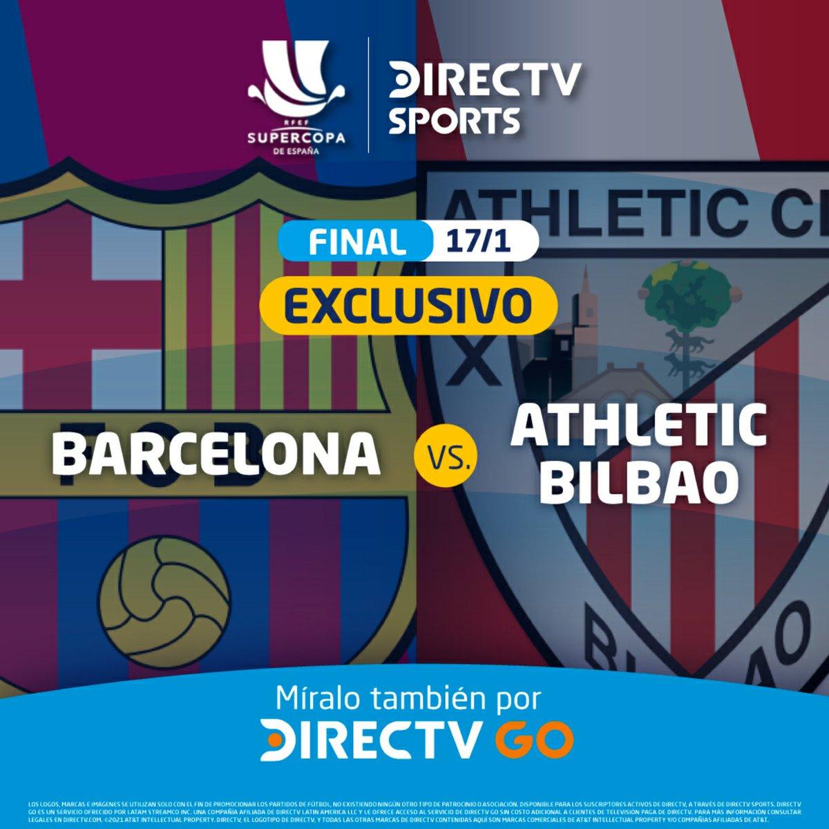 Disfruta de la final de la final de la Súper Copa de España. Entre #Barcelona 🆚️ #AthleticBilbao, este Domingo 17 de Enero en Exclusiva por #DIRECTV y #DIRECTVGO   Para más información escríbeme al 📲 9️⃣7️⃣4️⃣6️⃣4️⃣5️⃣0️⃣7️⃣5️⃣