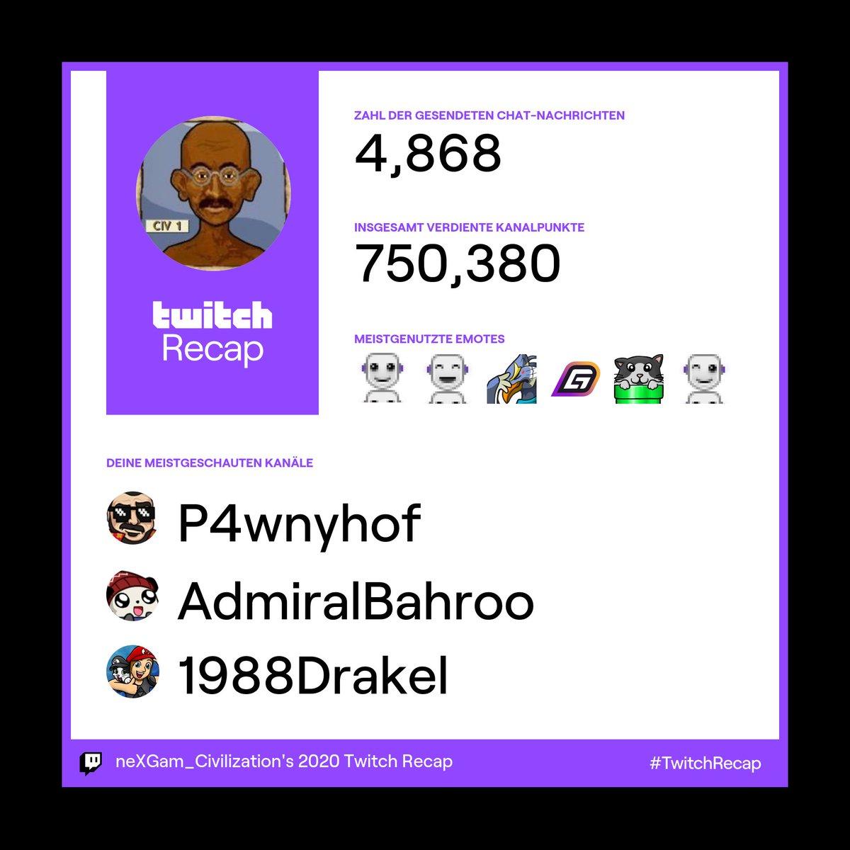 Und hier ist mein persönlicher Twitch-Offenbarungseid. *g* #twitchrecap
