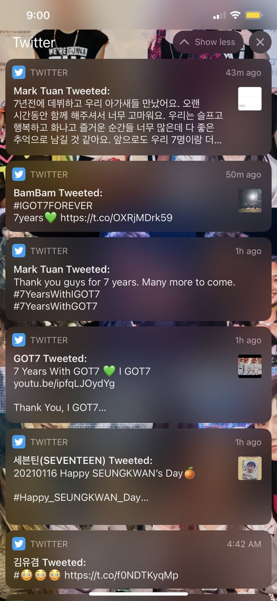 Woke up to all this. 🥺 01.16 💗🐣💎  #7YearsWithGOT7 #7YearsWithIGOT7 #GOT7FOREVER #Happy_SEUNGKWAN_Day #더_찬란하게될_승관이의_스물넷 #Go_SEUNGKWAN_Day