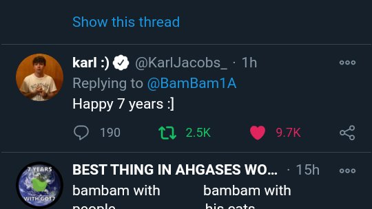 Guys whos this he replied to bambams post.  #7YearsWithGOT7 #갓세븐포에버_아가새는어디안가  @GOT7Official #GOT7