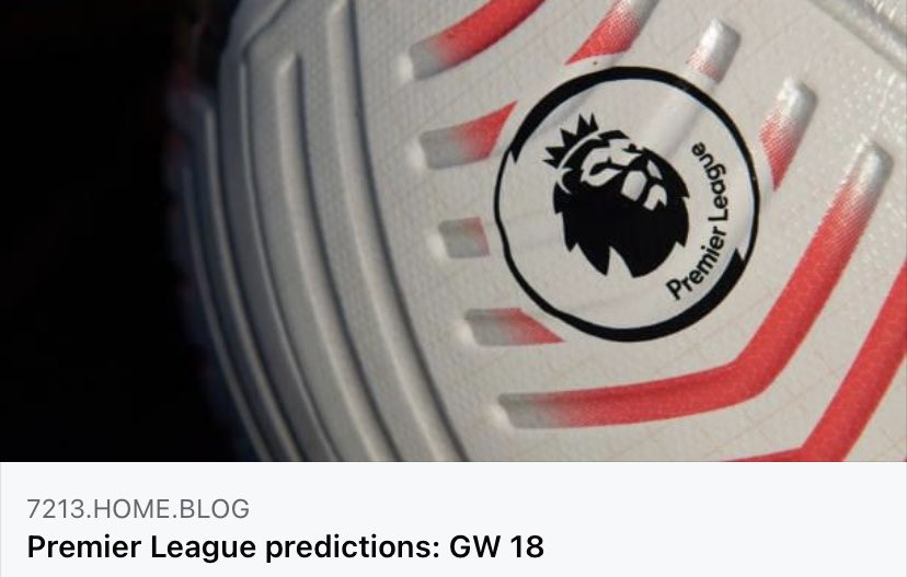 Was Alex able to get another win for the guests? Did I continue my hot streak against Lawro? Check out the final results from game week 18!  #Football #BURMUN #PremierLeague #blog #predictions