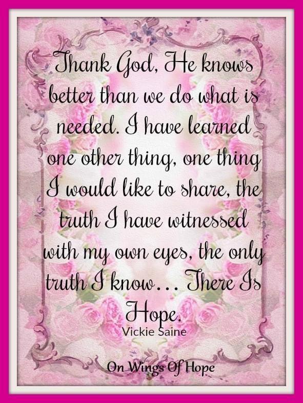 Love this: There is Hope!  Enjoy! 💗💗💗 . . . #onwingsofhope #god #lord #lordgod #thelord #thankgod #hope #godofhope #thereishope #enjoy #enjoylife #davisonlupinski #toridavison https://t.co/cqNF1I84VK