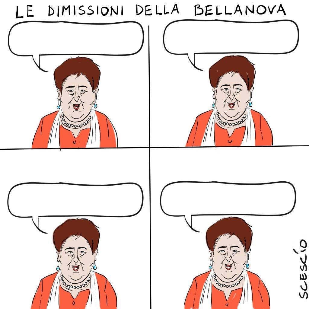 Altri, come Scescio, stigmatizzano l'arroganza con cui ha dimissionato le sue Ministre  #ItaliaViva  #crisidigoverno  #vignettistiperlacostituzione 🇮🇹