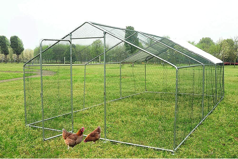 walsport Large Chicken Coop Walk-in Metal Hen Cage with Waterproof Cover, Enclosure Playpen for Back  #gifts #giftideas #dog #cat #puppy #pets  #blackfriday #thanksgiving #cybermonday @amazon #amazon #primeday
