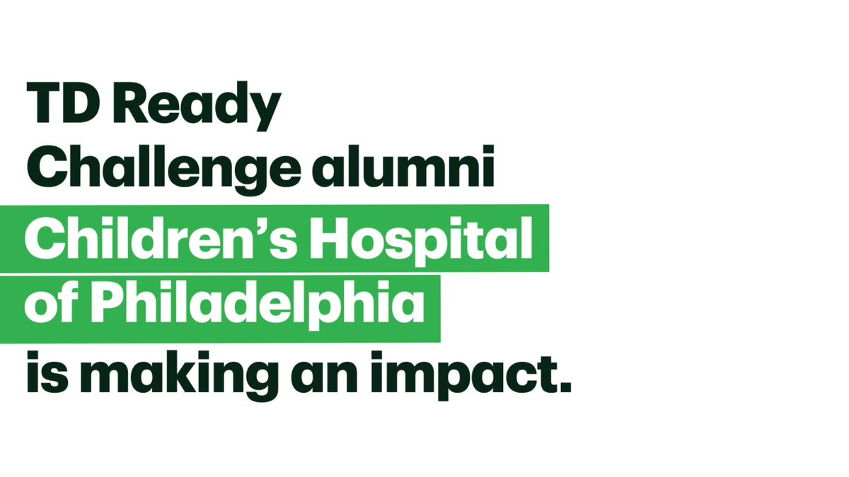 Collaboration can lead to positive change. TD Ready Challenge alumni @ChildrensPhila continues their work in assisting children with trauma in underserved communities via the GRIT project. Learn more:  #TDReadyCommitment