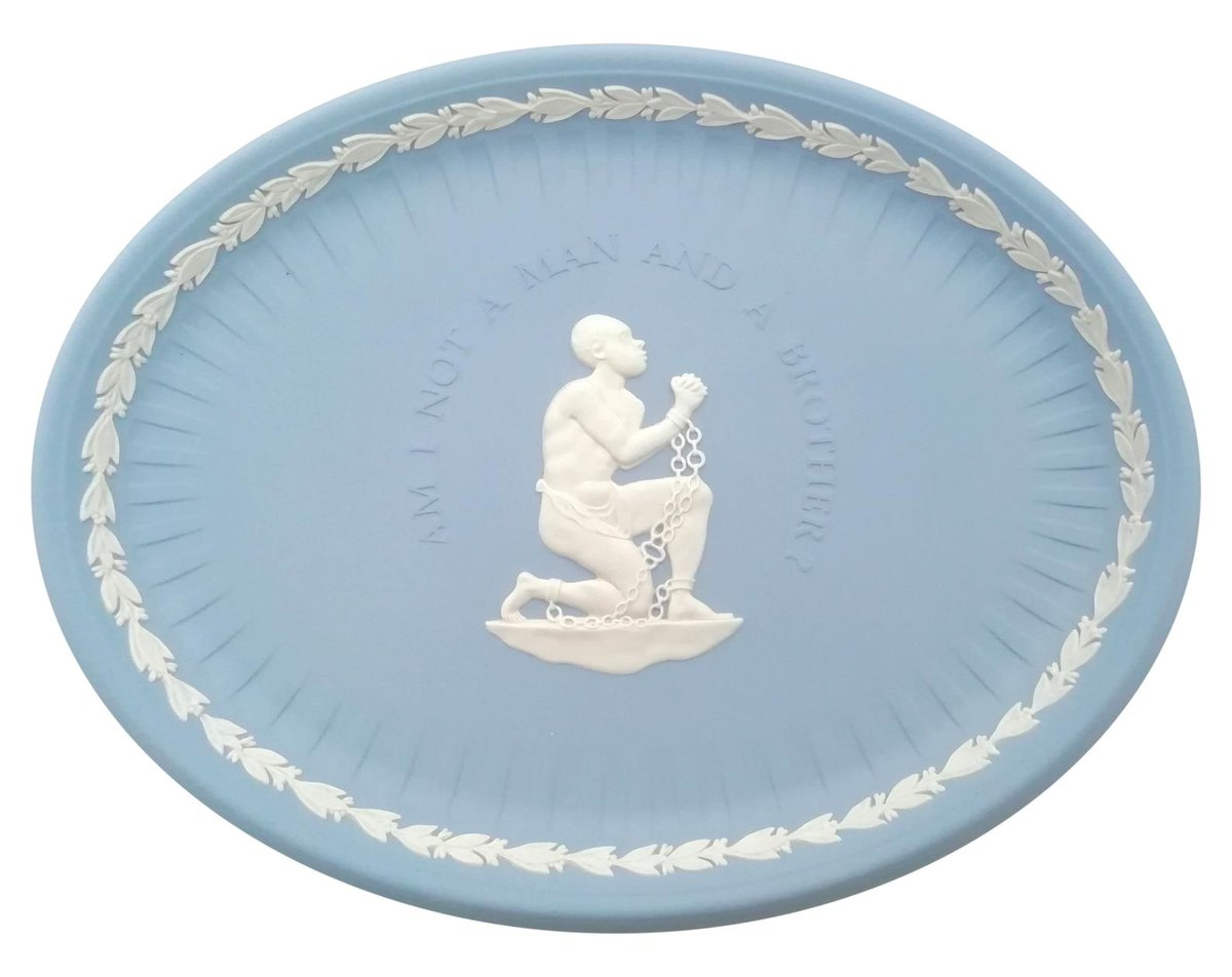 #William #Wilberforce #Slavery decorative plate - Am I Not a #Man and a #Brother? - #Wedgwood #blue #jasperware  via @Etsy #gift #giftidea #VintageEtsy
