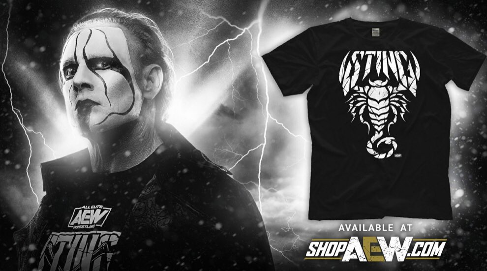 Now available on ShopAEW! Get your new @Sting shirt now #AEWDynamite
