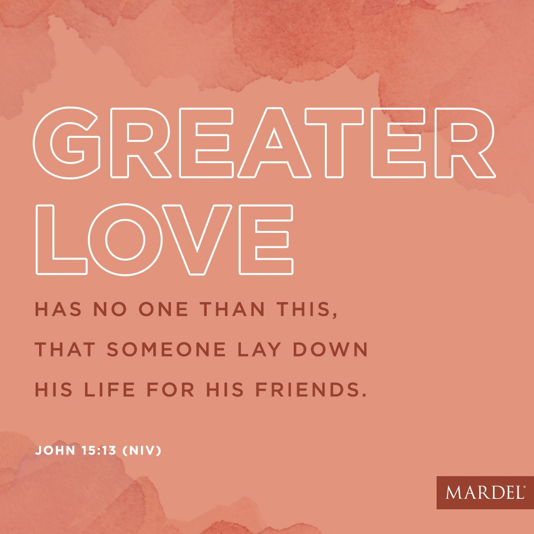 """""""Greater love has no one than this, that someone lay down his life for his friends."""" John 15:13 (NIV) #friendship #christian #sacrifice https://t.co/1zpxXCIpXY"""