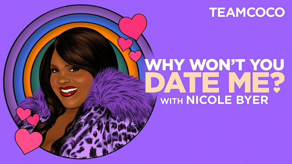 "Welcome to the Team Coco Podcasts family, @NicoleByer! On today's episode of ""Why Won't You Date Me?"" @ConanOBrien tries to help Nicole figure out why she's still single. Listen and subscribe on @ApplePodcasts."
