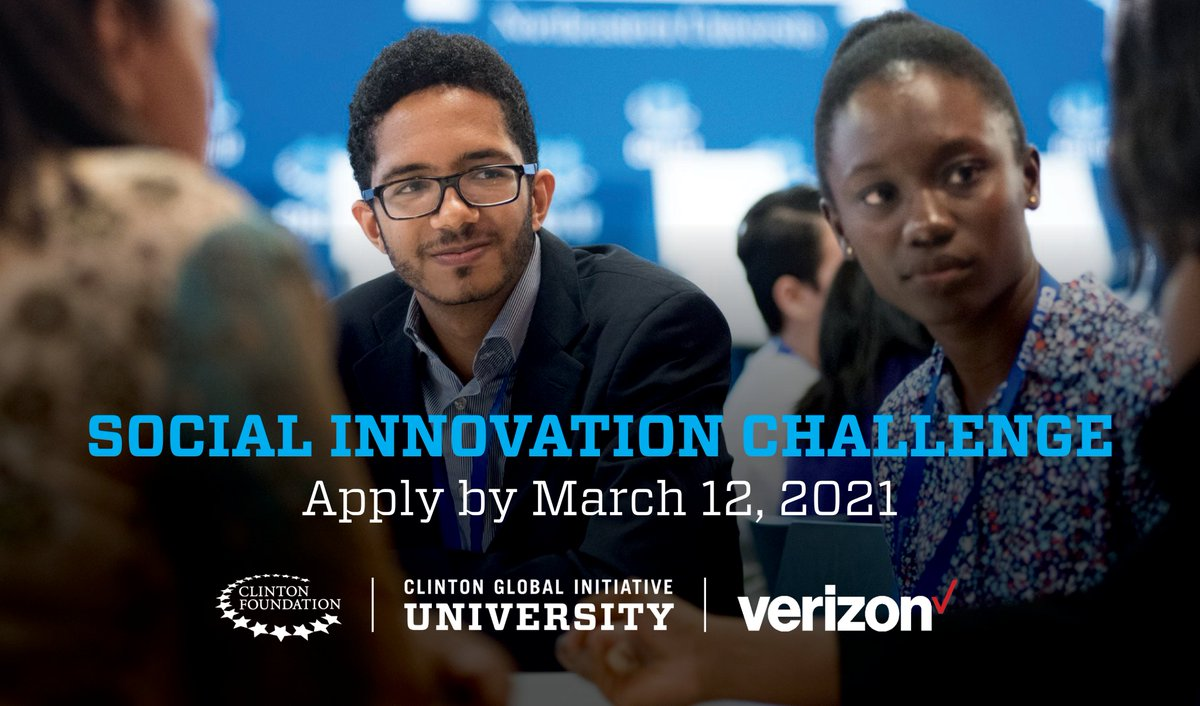 Are you a college student driving change through tech? @Verizon and CGI U have launched a Social Innovation Challenge with access to entrepreneurship training with @VentureWell and a pool of $350K in seed funding.  Learn more at: