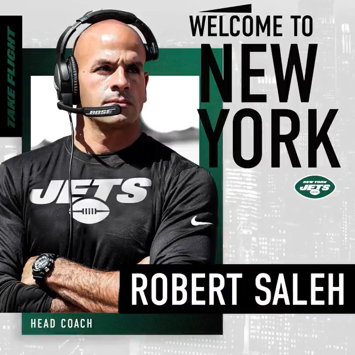 IT'S OFFICIAL. Welcome to New York, Coach Saleh!  📰