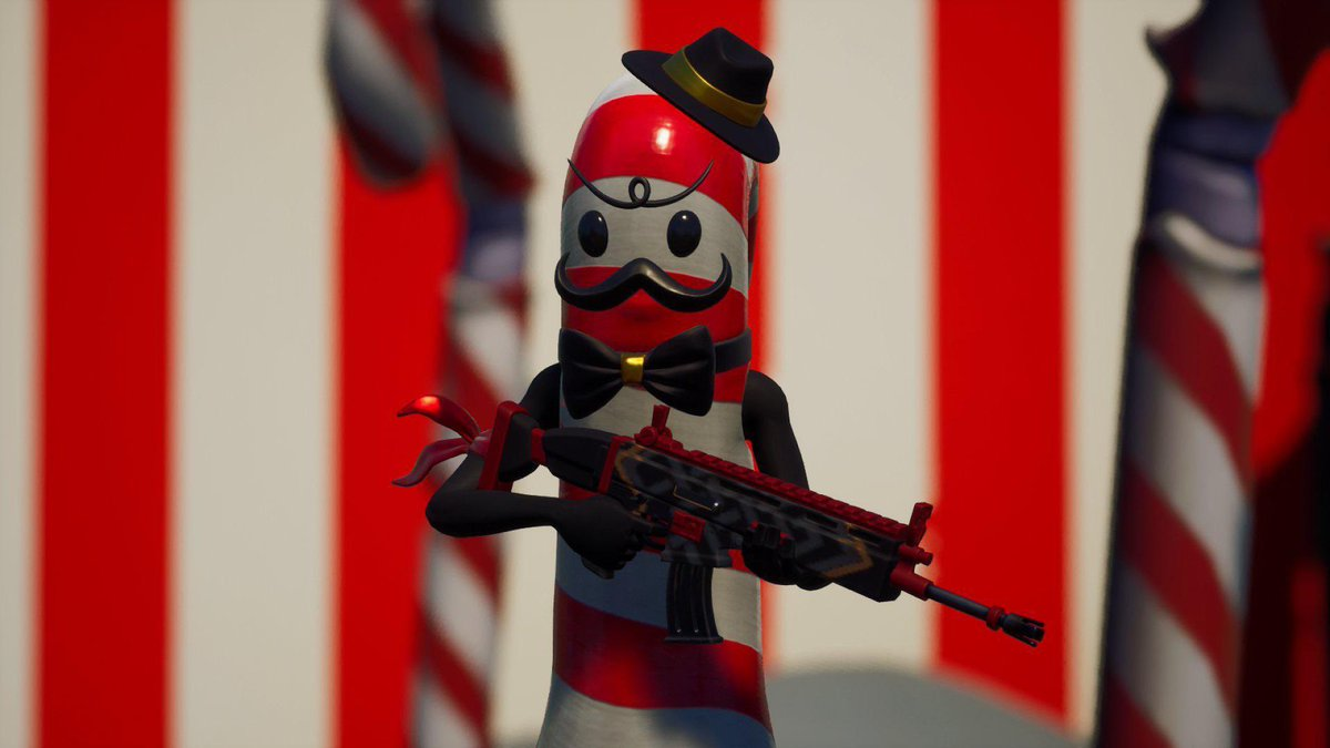 @FortniteGame Don't forget the most Dapper Candy cane 😌❤️🤍  Looks exactly like the Emoji ngl.  #NationalHatDay 🎩