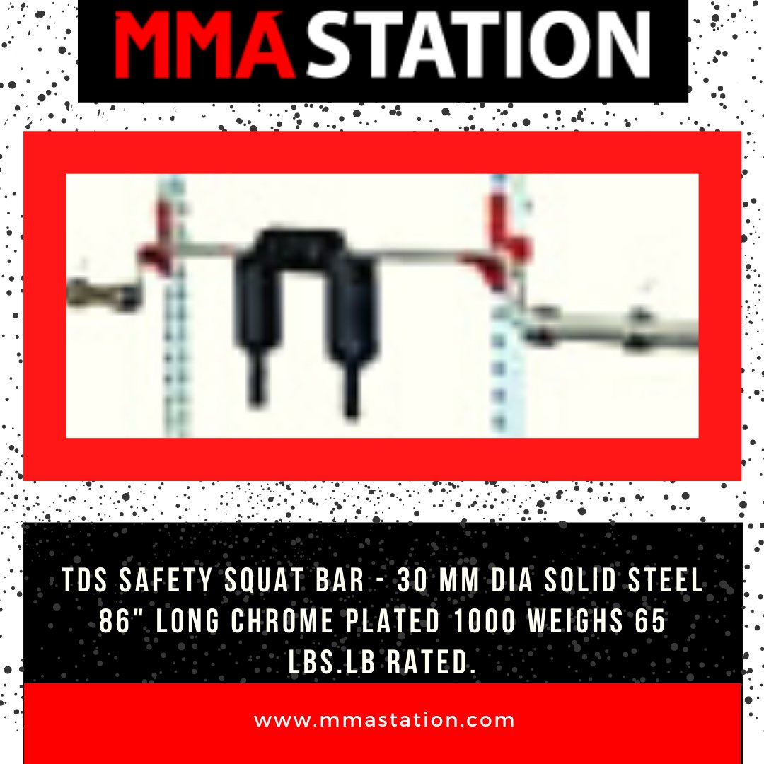 """TDS Safety Squat Bar - 30 mm dia Solid steel 86"""" long Chrome plated 1000 weighs 65  rated.   #fitness #gym #workout #fitnessmotivation #motivation #fit #bodybuilding #love #training #health #lifestyle #healthylifestyle #sport #healthy"""
