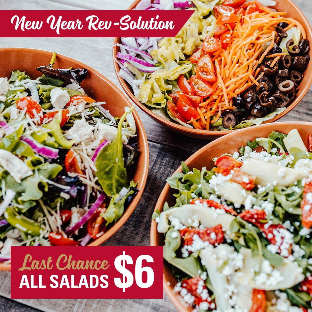 LAST CHANCE! Your salad, your way, any way you want to craft it... and for only $6. Tell us how you'd top your CYO salad below! * *Valid at participating locations for Rev Rewards members only. #Friday #NewYearResolution #eatbetter #newyeargoals