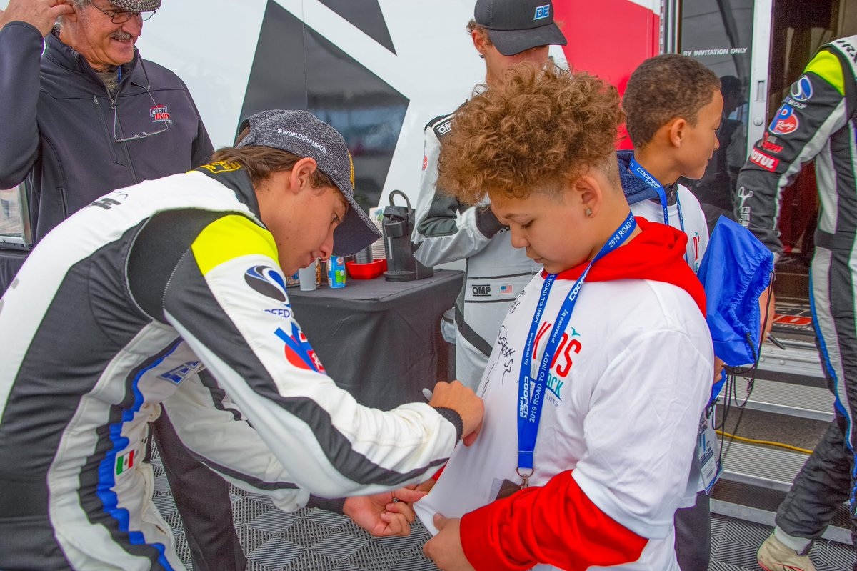 We receive so many autographs from #RoadToIndy drivers that it makes us wonder if their hands get tired. We'll see you guys at the track for more autographs and STEM talks soon!   #KidsOnTrack // #STEM // #TeamCooperTire