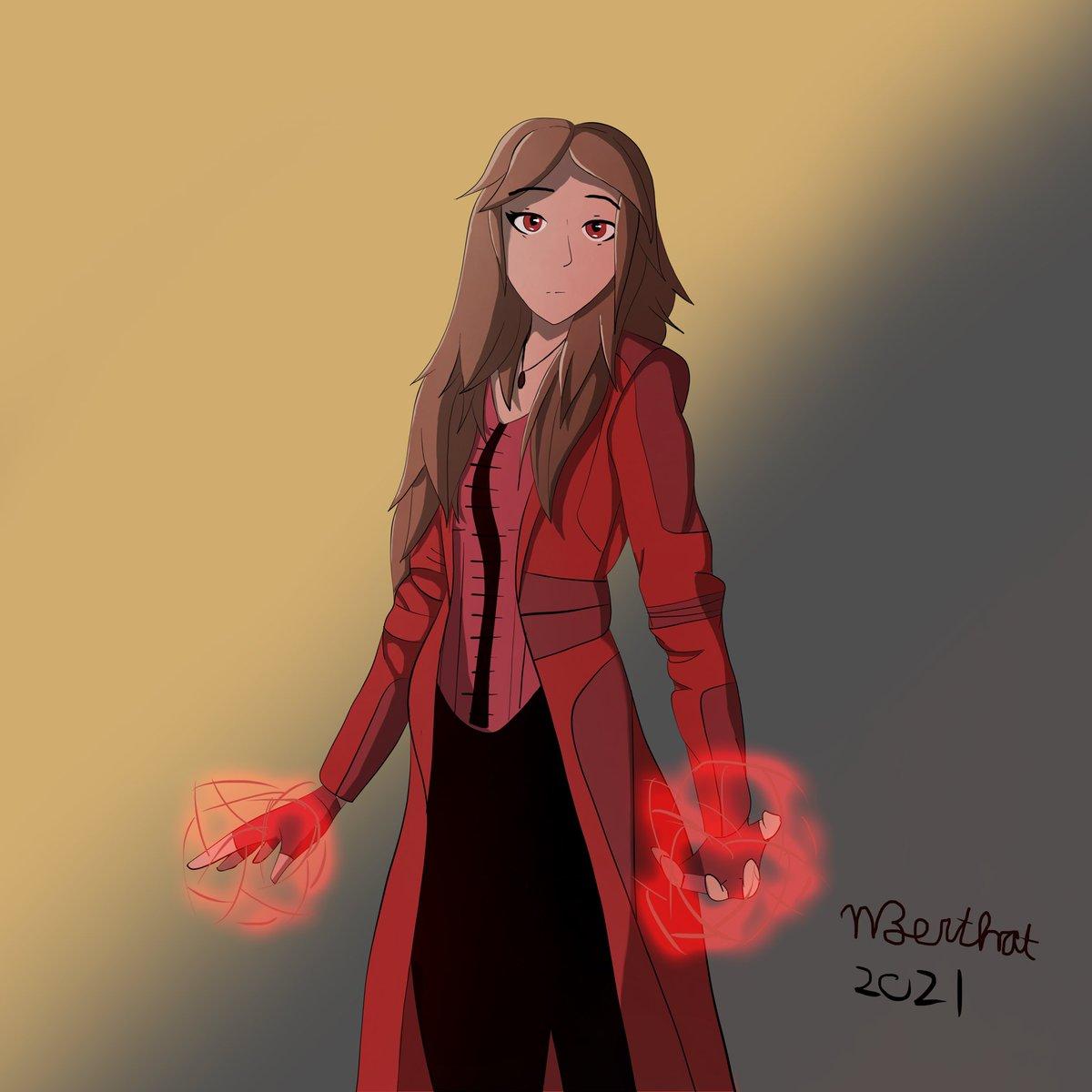In celebration of #WandaVision, did a quick fanart of Wanda Maximoff herself! One of my favorite Marvel characters, hope the show is good! #MCU #Wanda #fanart #art #digitalart