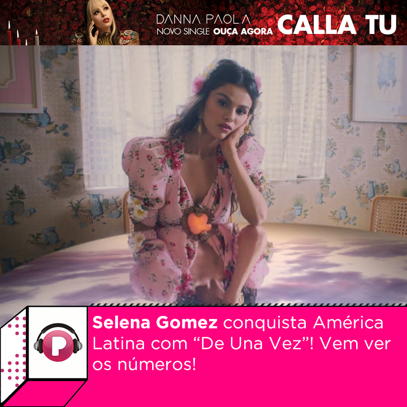 """A recepção para o single em espanhol """"De Una Vez"""", de @selenagomez, foi ótima. A música assumiu o 1º lugar no ranking de vendas do iTunes em 23 países e despontou como favorita do momento na América Latina.  Vem ver os números!"""