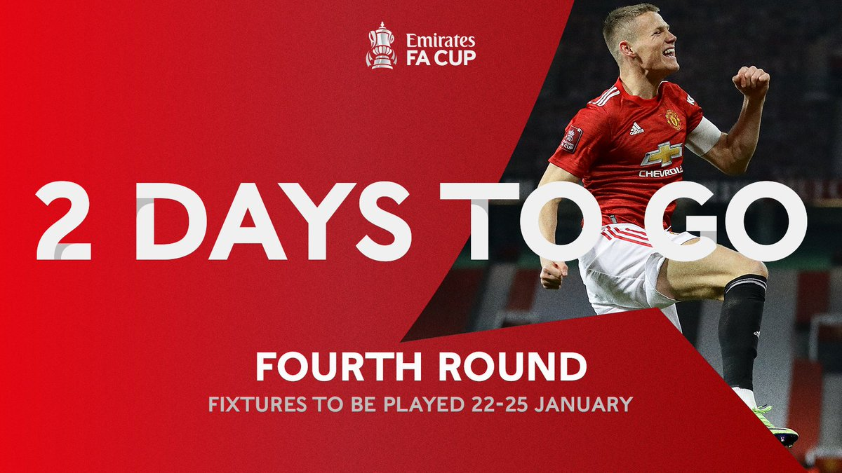Tag your third @ and tell them there's only TWO days to go until the #EmiratesFACup fourth round 👀  📺: