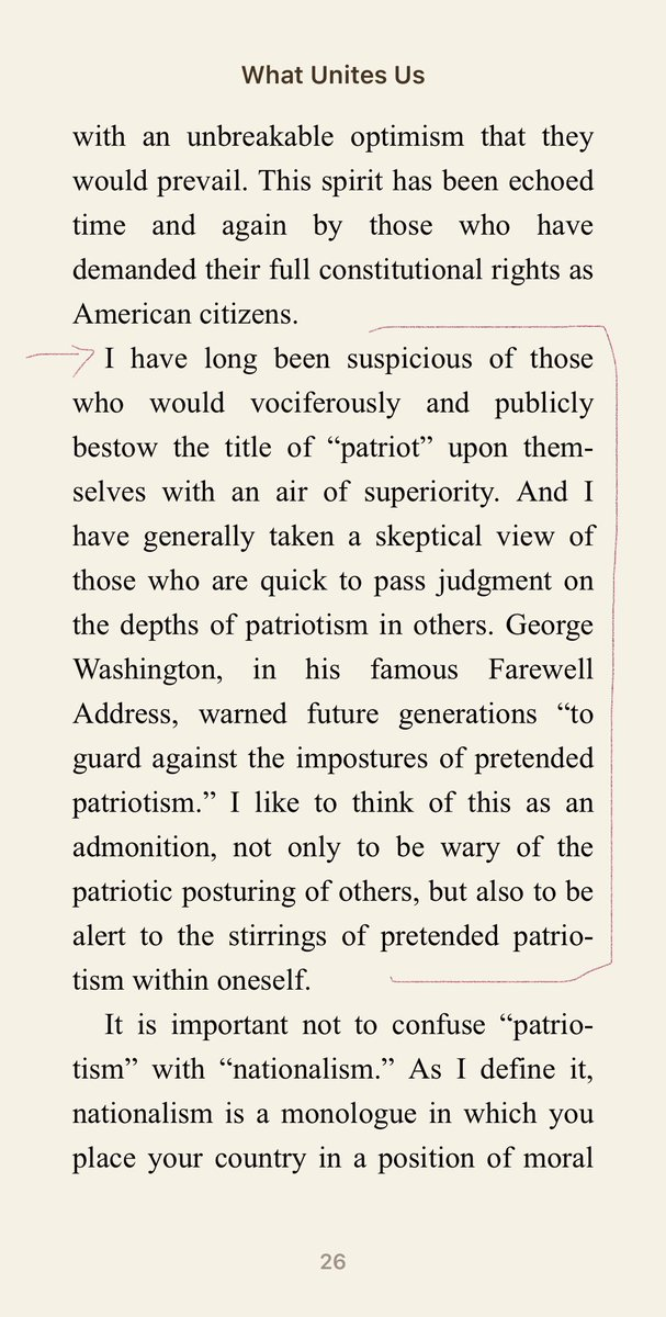 Finished @DanRather's book What Unites Us—profound all around—but I keep returning to this passage that resonates with me after self-proclaimed patriots attacked our democracy on Jan 6 — still smh at those who view the insurrection as a patriotic act & not the terrorism it was.