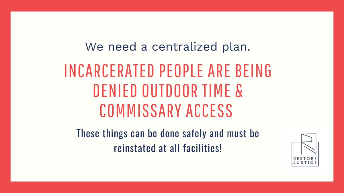 @BLMChi @BLMChiYouth @studyabolition @IllinoisPrison @endmoneybond We're calling on #IL reps and senators, Gov P and Lt Gov S to #EndILPrisonLockdown  There are people in IDOC who have not been allowed outside nor allowed commissary for months. It's time to end this.