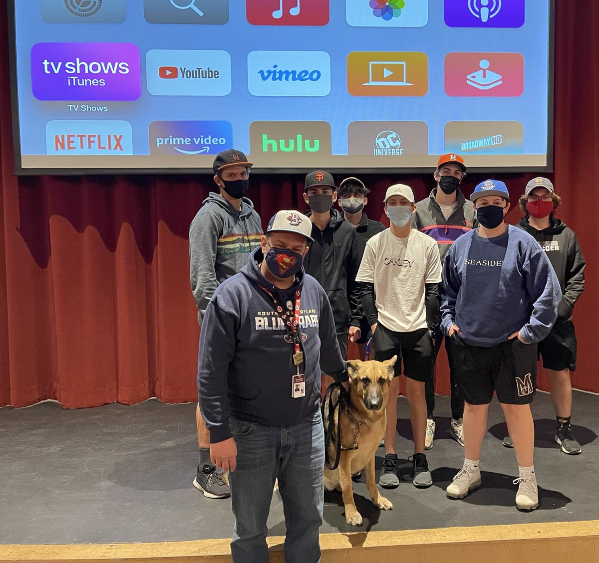 As per the tradition, some of my @SMCACrusaders Baseball In Cinema students rocked ball caps for #NationalHatDay