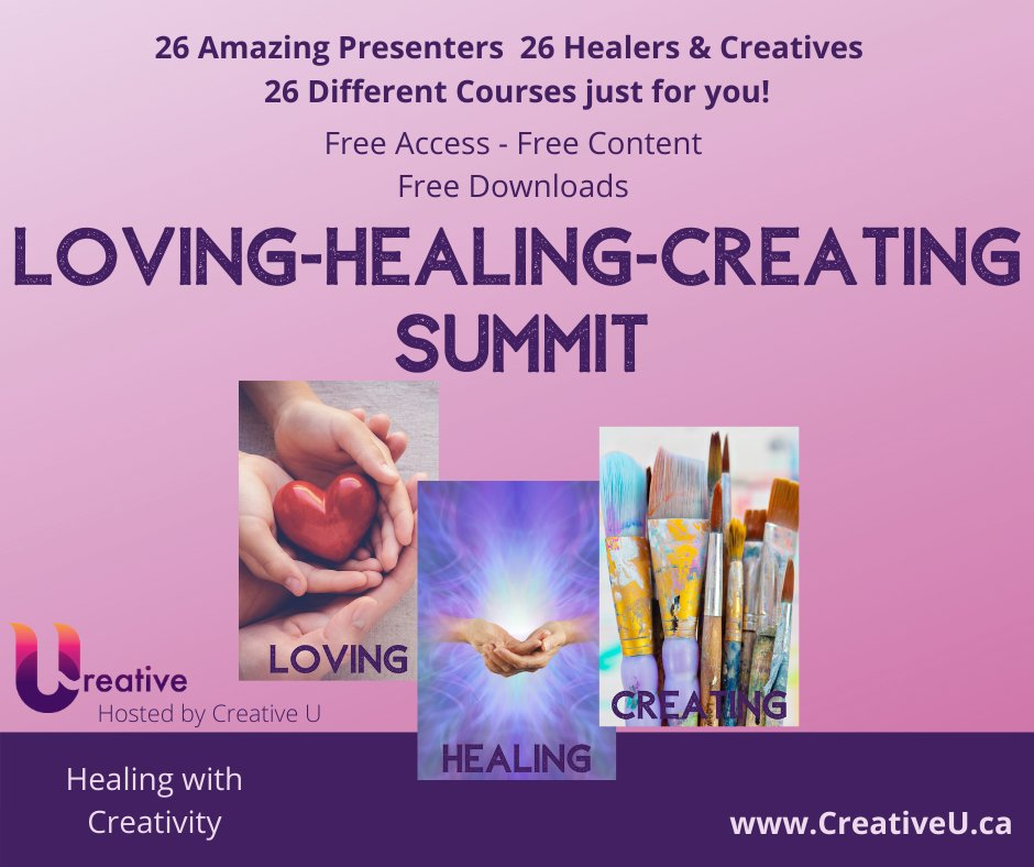 Join us  February 2 to 14, 2021 with the FREE Healing with Creativity Courses.      #freesummit #summit #free #lovinghealingcreating #creativity #loving #healing #lovinghealingcreating2021 #amandatrought #realityarts #mixedmediaartist