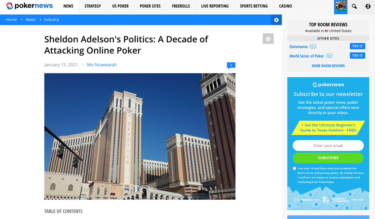For poker players, the late Sheldon Adelson's enduring legacy will be his opposition to online poker. For others, it may be his political contributions and affiliations, which PokerNews explores here.  https://t.co/pr6a9mrxPX https://t.co/6mVoXxLoOt