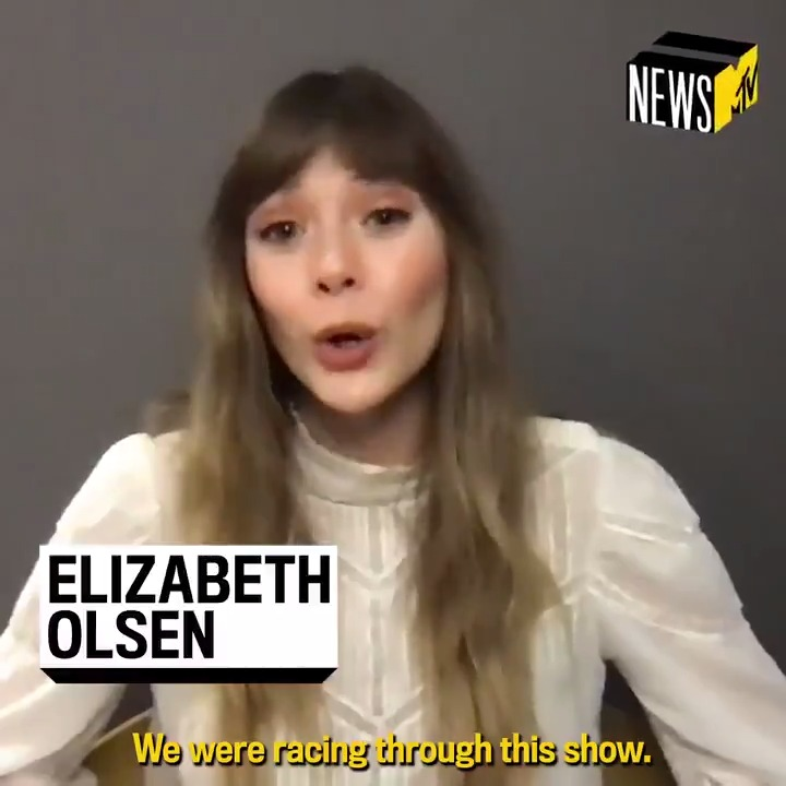 Elizabeth Olsen talked to @joshuahorowitz about all-things #WandaVision on @disneyplus! 🎬  Here's what she has to say about shooting in front of a live audience, and more: