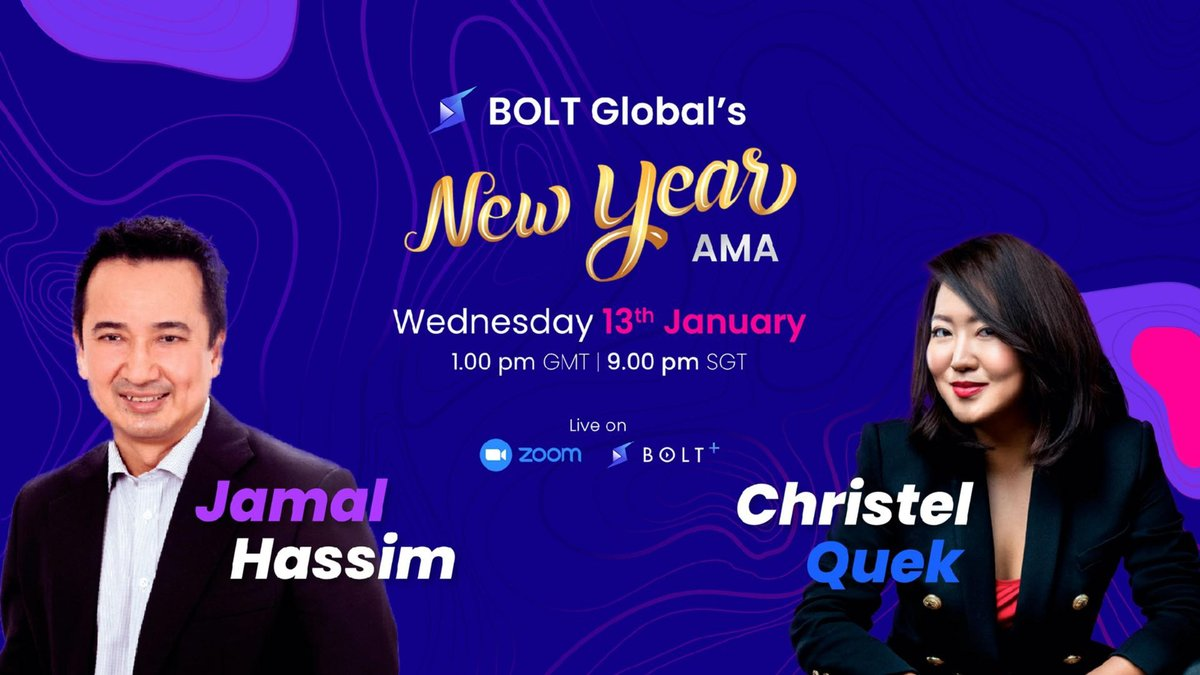 ⚡️Recap of the BOLT New Years #AMA on 13 January with BOLT Founders @JamalHassim & @ladyxtel⚡️  Hear all updates about: Tokenomics, #Zilliqa, BOLT+, BOLT-X, roadmap news, BOLT Army Campaign & the live Q & A with our community and more..  Full Recap:   $BOLT