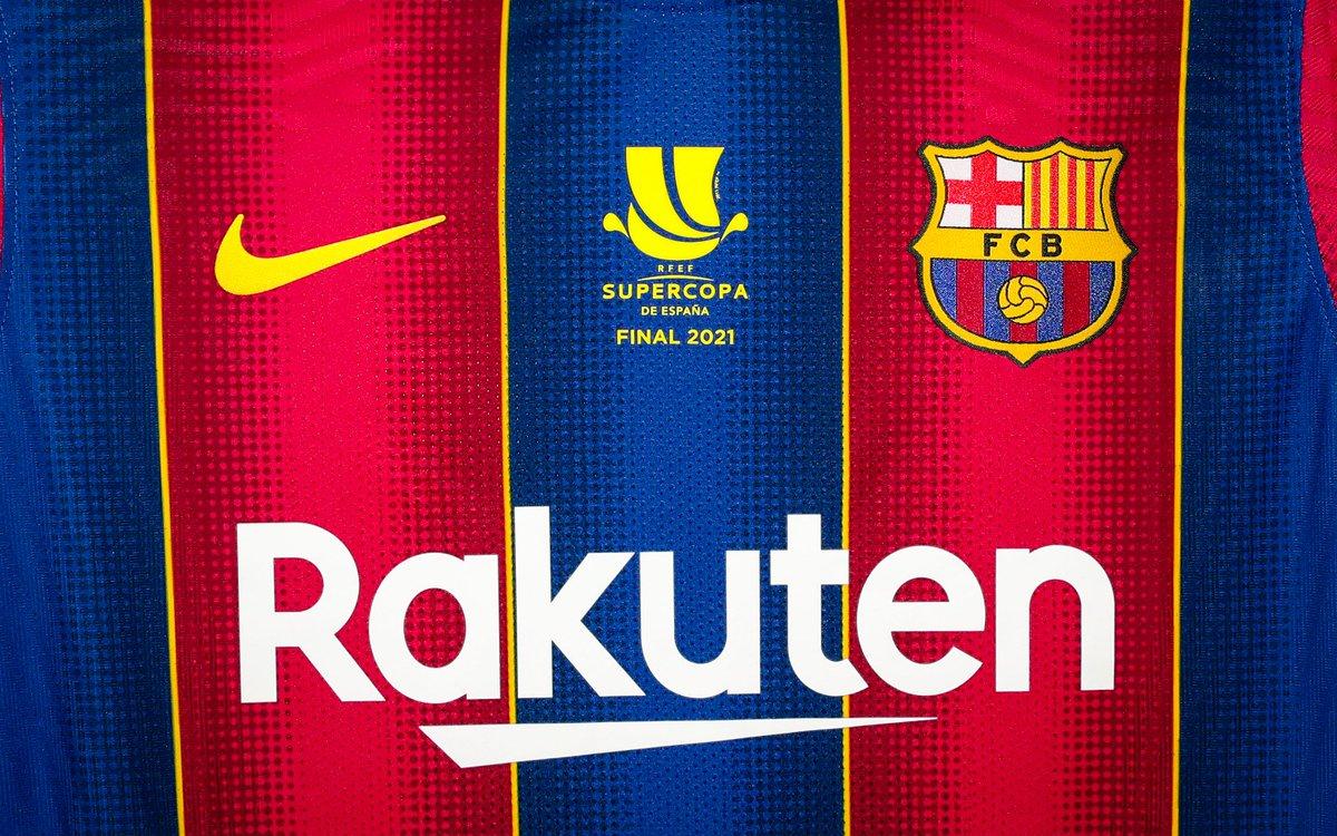 La samarreta de la final de la #SupercopaBarça, serigrafiada per a l'ocasió 😍