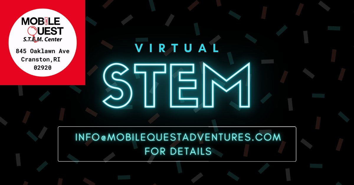 Mobilequest is now offering virtual birthday parties, after school programs, STEM Nights (Take home kits). Library programs, scout meetings, and more! We have multiple options and will create a plan to meet your needs! email info@mobilequestadventures.com for details  #STEM